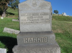 Job Harris gravestone from Riverview Cemetery