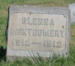Baby Glenna Montgomery gravestone in Riverview Cemetery